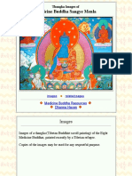 Thangka Images of Medicine Buddha Sangye Menla