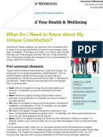 What Do I Need to Know about My Unique Constitution? | Taking Charge of Your Health & Wellbeing