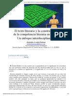 Aventín Fontana_ El Texto Literario y La Construcción de La Competencia Literaria en E_LE