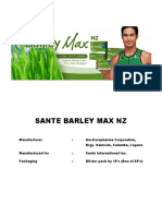 Sante Barley Max Nz Documents