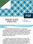 1. Break Even Analysis