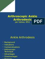 Arthroscopic Ankle Arthrodesis