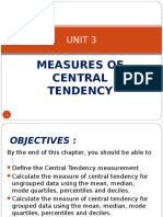Unit 3_measures of Central Tendency