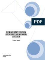 464_Rural and Urban Regional Planning (EMT 425 )_Notes