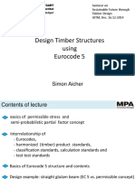 Design Timber Structures Using Eurocode 5