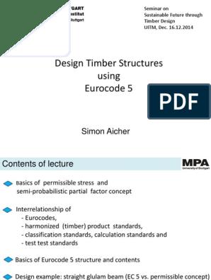 Design Timber Structures Using Eurocode 5 | Bending | Lumber