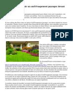 Façons de concevoir un aménagement paysager devant votre maison