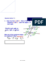 Geometry Notes April 5