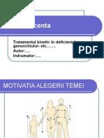 Model- Ppt Sustinere Licenta Genunchi