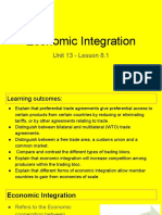 unit 13 - lesson 8 1 - economic integration