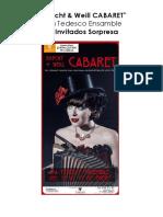 BRECHT + WEILL Cabaret en el Fernan Gomez Enero 2016