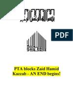 PTA Blocks Zaid Hamid Kazzab - An END Begins