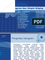 Variogram Dan Simple Kriging