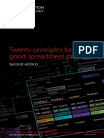 166 Twenty Principles for Good Spreadsheet Practice