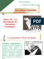 Version élève du Thème 122 - L'analyse des déterminants des fluctuations de la croissance .ppt