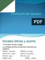Evolución de Vocales