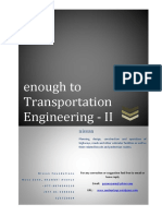 Transportation Engineering Notes