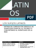 Sufijos Latinos