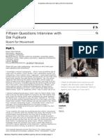 Dai Fujikura - 15 Questions _ Interview Room for Movement