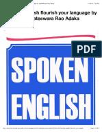 Spoken English Flourish Your Language by Venkateswara Rao Adaka