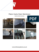 triton cavity drain membrane installation manual