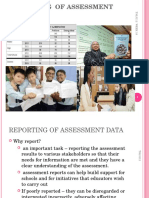 TSL3112 Lecture 14 Reporting of Assessment Data