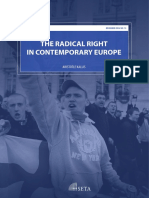 The RADICAL RIGHT in Contemporany Europe