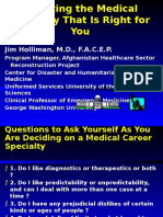 Medical Career Selection