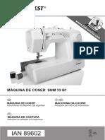 Manual SilverCrest SNM 33 B1-ES