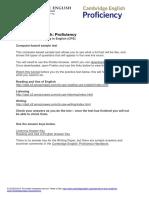 168582 Cambridge English Proficiency Cb Sample Test PDF