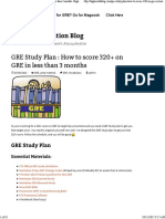 GRE Study Plan _ How to score 320+ on GRE in less than 3 months -Higher Education Blog