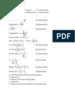 MGT601 Formulas