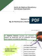 Formulaci%f3n de Objetivos y Aprendizajes Esperados