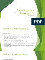 social injustice presentation