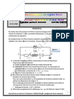 Série d'Exercices Lycée Pilote - Sciences Physiques Oscillations Électriques en Régime Forcé - Bac Mathématiques (2010-2011) Mr Sfaxi Salah