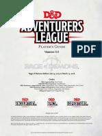 Adventurers League - Player's Guide v3