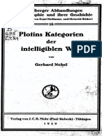 Nebel, Plotins Kategorien Der Intelligiblen Welt (1929)