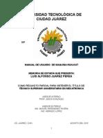 Tesis Luis Juarez Perea, Manual Para Operador de Maquina Run Out