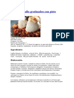 Receta Filetes de Gallo Gratinados Con Pisto