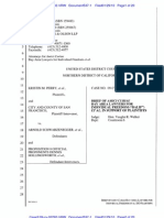 Perry v. Schwarzenneger Amicus Brief by Bay Area Lawyers for Individual Freedom, No. 09-Cv-02292 (N.D.cal. Jan. 29, 2010)