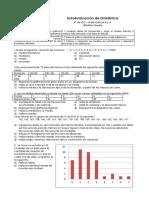 Autoevaluacion Estadistica 4º ESO