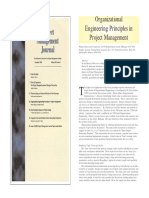 Organizational Engineering Principles in Project Management