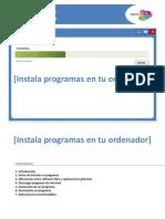 Instala Programas en Tu Ordenador