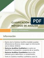 Clasificación de Los Métodos de Análisis1