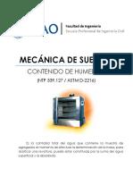 Lab01 - Contenido de Humedad - UPAO - SUELOS