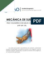 Lab02 - Peso Volumétrico de Suelos Cohesivos - UPAO - SUELOS