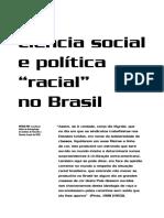 Ciência Social e Política Racial No Brasil