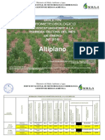 BOLETÍN AGROMETEOROLOGICO Primera Decena Del Mes de Enero-2016 Nº 916-Altiplano