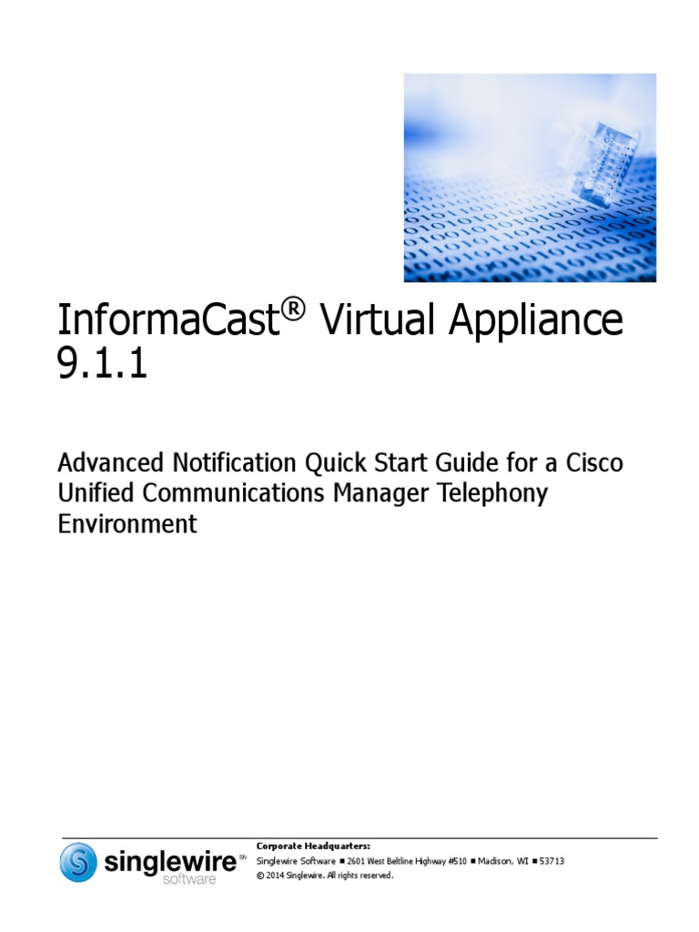 InformaCast Advanced Notification - Quick Start Guide for