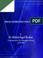 Dr. Roshan Process Optimization